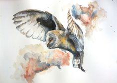 Barn Owl in flight by sarahstokes on DeviantArt