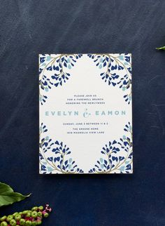 from the vine wedding invitation suite by hello tenfold