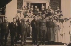 Wedding party including York's mother, Mary and his minister, Reverend Pyle