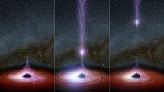 objeto saindo de buraco negro