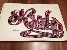"""Kirby #sketch #sketchbook #sketchoftheday #sketchoftheweek #calligrafia #calligraphy #handwriting #lettering #type #graffiti #50words #follow…"""