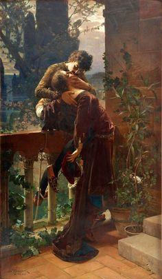Le Prince Lointain: Julius Kronberg (1850-1921), Roméo et Juliette sur...
