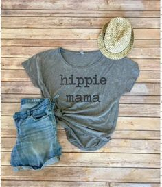 Hippie Mama Tee  Boho Shirt  Gift for Her  Mom Life  by IndyRoseCo