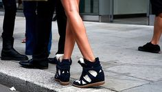 isabel marant wedge sneakers outfit - Google Search