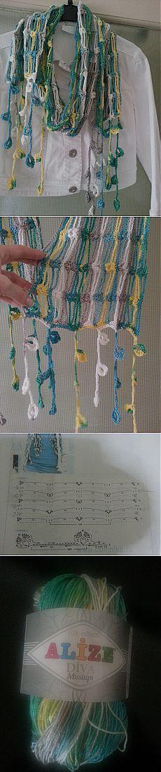 Летний шарфик.. / Женская одежда крючком. Схемы. / PassionForum - мастер-классы по рукоделию