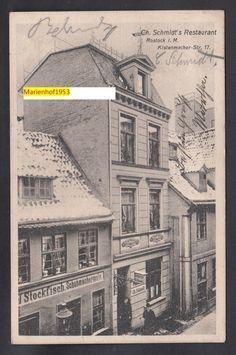 Rostock, Ch. Schmidts Restaurant, Kistenmacherstr.17 (1909)