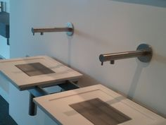Washbasin taps wall mounted: MGS MB6, fully stainless steel