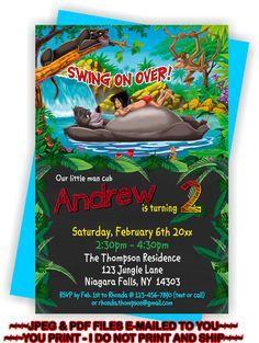 YOU PRINT -Jungle Book Birthday Invitation, Jungle Book Birthday Invite, Jungle…
