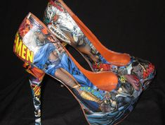 10 Fantastic Pairs Of Comic Book Heels can hodge podge make your own