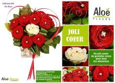 Des idées de cadeaux, de bouquets de fleurs, de roses spécialement pour la Saint Valentin. La collection Saint Valentin 2016 dévoilée en images.