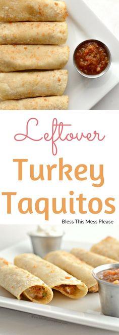 Leftover Turkey Taquitos | Tasty Way to Use Leftover Turkey!