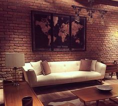 Stunning and contemporary feature wall using Memphis Red brick slip cladding