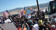 Protesters Turn Back DHS Buses Carrying Illegal Immigrants 7/1/14 *GOOD FOR these law abiding citizens.  Trying to see that the law is 'followed/enforced' because o  this admin refuse to abide by  up hold the laws of the United States.
