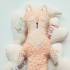 Un doudou renard en tissu - Marie Claire Idées
