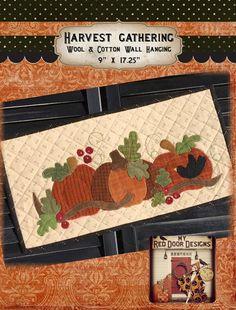 Harvest Gathering wool applique kit and by myreddoordesigns
