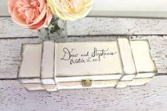 Personalized Lace Wine Box - Custom Bridal Shower Wedding Gift