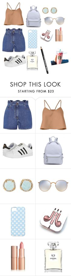 """""""Untitled #67"""" by fevzi-mete ❤ liked on Polyvore featuring Valentino, TIBI, adidas, Louise et Cie, Ray-Ban, PhunkeeTree, Chanel and NYX"""