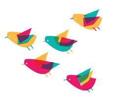 Rhona Garvin 'Birds' screenprint