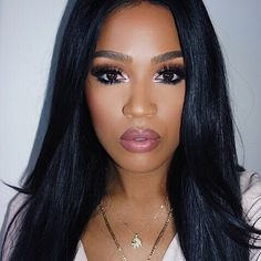 "Loving my straight (plush geisha) Peruca complete hair from @thevirginhairfantasy -->> use my ""MakeupShayla"" coupon code for a discount on all hair and hair care"
