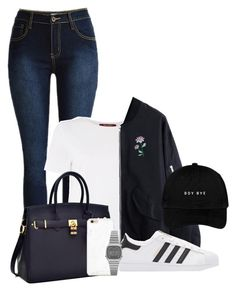 """back to school"" by unique258 on Polyvore featuring MaxMara, adidas Originals and Casio"
