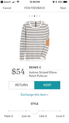 Renee C Aubree Striped Elbow Patch Pullover $54 Stitch Fix Fall 2017 #stitchfix #fallfashion #fashion