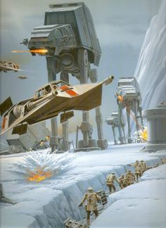 Battle of Hoth - art by Ralph McQuarrie