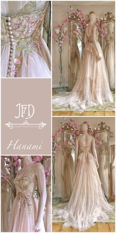 Blush tulle wedding dress with embroidered cherry blossom - #Blossom #Blush #Cherry #cherryblossom #dress #embroidered #Tulle #Wedding