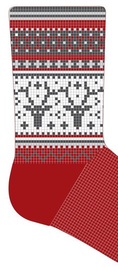 DIY Pattern knitting kits - Everything we offer you has been a long hours patiently handmade! Knitting Kits, Fair Isle Knitting, Knitting Charts, Knitting Patterns, Crochet Patterns, Christmas Stocking Pattern, Knitted Christmas Stockings, Christmas Knitting, Knit Mittens