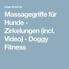 Massagegriffe für Hunde - Zirkelungen (incl. Video) - Doggy Fitness