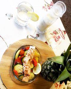 #صحي #سالمون #غداء #healthy #salmon # lunch