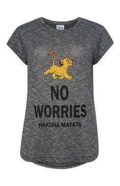 Primark - Grey Lion King T-Shirt