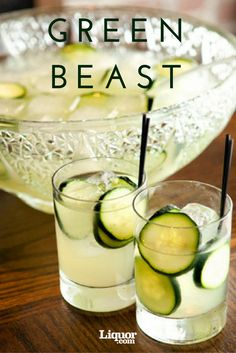 Make a big bowl of this refreshing absinthe and lime punch. Perfect for those looking to get a little extra boozy this holiday season.