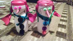 Snowgirls made out of Creamer container