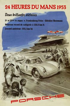 Canvas Gallery Wrap Giclee Vintage Racing by ColorWheelPrints