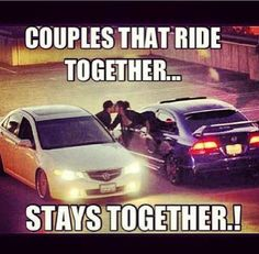 Exactly.... I don't ever depend on a man to drive me around to where I need and want to go.... we ride together in our own separate cars lol lead each other out of the slow drivers
