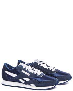 Reebok Cl nylon team navy/platinum sneakers