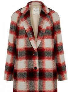 Karierter Mantel aus Wollmischung von Madwell über net-a-porter.com, ca. 340 €