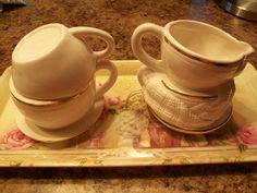 Vintage Sugar and Creamer Set by THEPARISBOUTIQUE on Etsy, $18.00