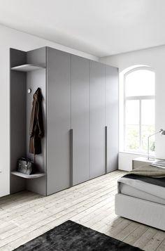 Modular wardrobe Wardrobe with hinged / folding door by Wardrobe Door Designs, Wardrobe Design Bedroom, Modern Wardrobe, Wardrobe Doors, Built In Wardrobe, Closet Designs, Closet Bedroom, Modern Bedroom Design, Wardrobe Ideas
