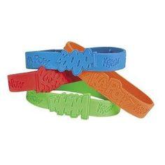 24 pc Superhero Sayings Bracelets