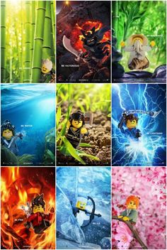 Neue Charakterposter für 'The LEGO Ninjago Movie' - New Ideas Ninjago Party, Lego Ninjago Movie, Lego Movie, Lego Ninjago Lloyd, Legos, All Hollywood Movie, Ninja Turtle Pumpkin, Arte Ninja, Ninjago Memes
