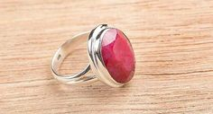 925 Sterling Silver 29ct Ruby Ring BJR8071 from Edelsteinschmuck by DaWanda.com