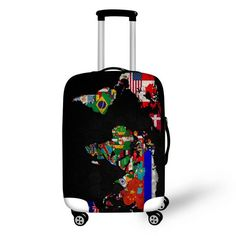 """NEW TREND! Trolley Suitcase Waterproof Protective Covers for 18-30"""" American Flag + 6 Other Styles"""