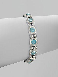 Adriana Orsini Pavé Crystal Accented Ceramic Link Bracelet #Saks #givesaks