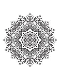 Mandalas Drawing, Mandala Coloring Pages, Colouring Pages, Printable Coloring Pages, Adult Coloring Pages, Coloring Books, Mandala Design, Mandala Art, Dot Painting
