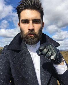Chris John Millington - dark beard and mustache beards bearded man men mens' style fashion clothing winter fall #beardsforever