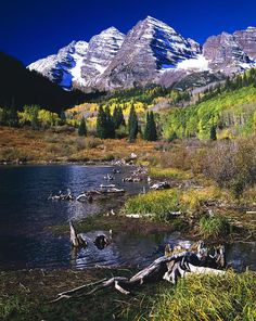 ✯ The Maroon Bells Peaks, West Elk Mountains - Colorado
