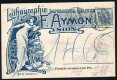 1906  fantastische Litho m. St.Helvetia!  Sion, Switzerland, 275 CHF.