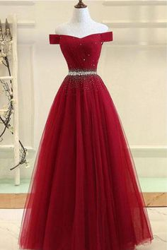 Burgundy tulle off shoulder long prom dress, burgundy evening dress, Customized . - Burgundy tulle off shoulder long prom dress, burgundy evening dress, Customized service and Rush order are available # Source by - Burgundy Evening Dress, Burgundy Formal Dress, Navy Blue Prom Dresses, Pretty Prom Dresses, Cute Prom Dresses, Formal Evening Dresses, Ball Dresses, Beautiful Dresses, Ball Gowns