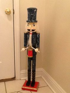 Bought a nut cracker (from Michaels I think) and painted him in aquaflage